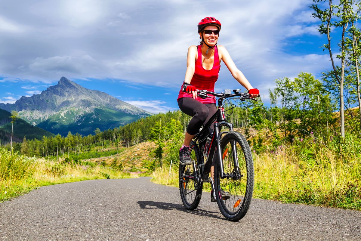 Jazda po ścieżkach rowerowych - Czarna Góra