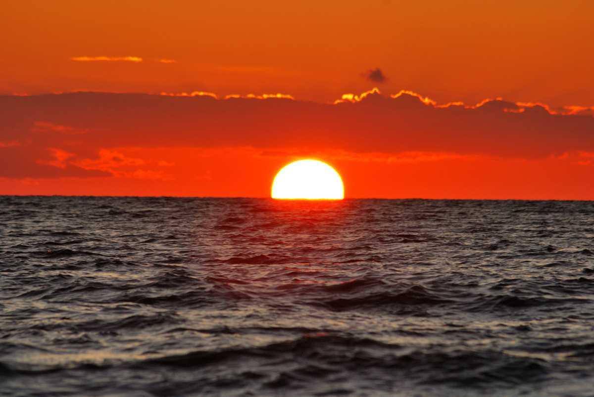 Piękny zachód słońca - Jastarnia. Atrakcje turystyczne